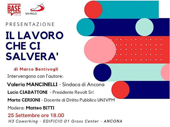 """Immagine PRESENTAZIONE de """" Il LAVORO CHE CI SALVERA' """" di Marco Bentivogli - ANCONA"""