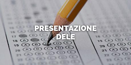 Presentazione DELE. OPEN DAY INSTITUTO CERVANTES biglietti