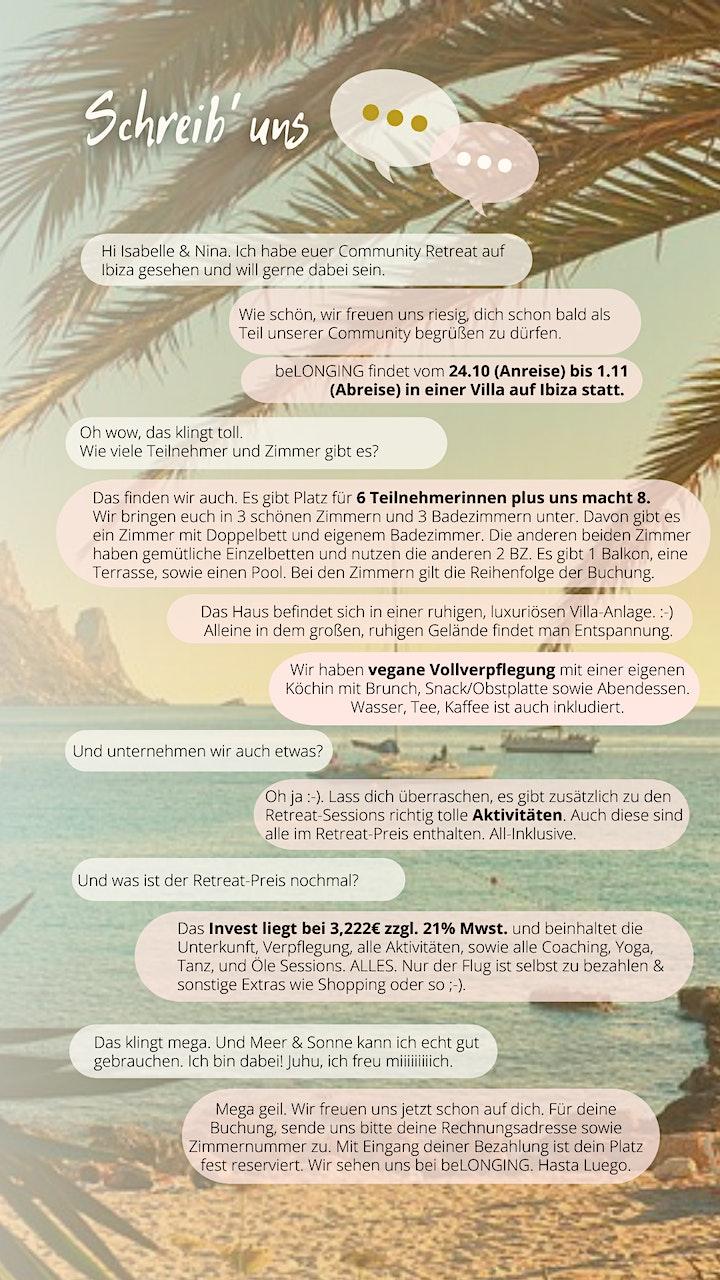 beLONGING - Dein Community Retreat auf Ibiza image