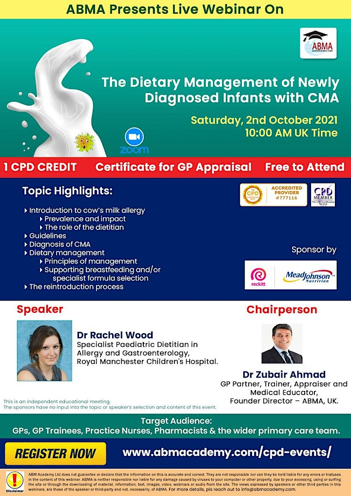 The Dietary Management of Newly Diagnosed Infants with CMA image