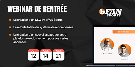 Webinar de  Rentrée | bFAN Sports billets