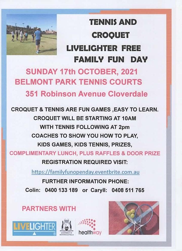 Belmont Park Tennis & Croquet Club Family Fun Day image