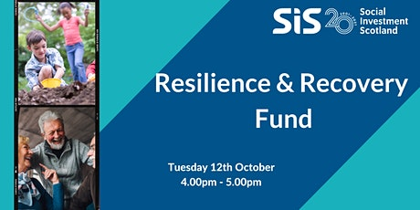 Social Investment Scotland - Resilience and Recovery Fund tickets