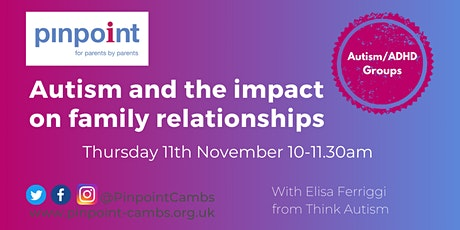 Autism and the impact on family relationships tickets
