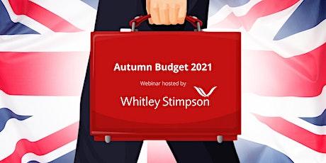 Webinar - Autumn Budget 2021 tickets