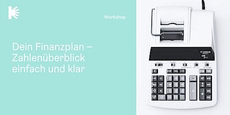 Dein Finanzplan – Zahlenüberblick einfach und klar tickets