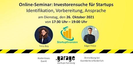 Investorensuche für Startups Tickets