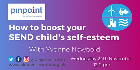 Yvonne Newbold -  How to boost your child's self-esteem tickets