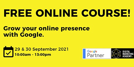 Join us for our Heritage Month Digital Marketing Courses. FREE OF CHARGE! tickets