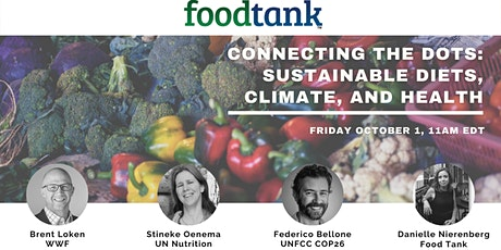 Sustainable consumption and diet, climate change, biodiversity, and health. tickets