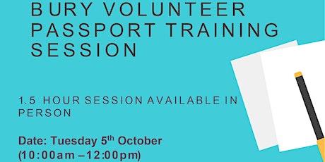 Bury Volunteer Passport Training Session tickets