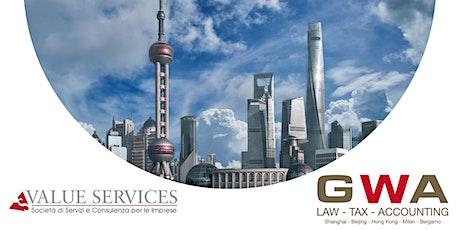 CINA: le opportunità del mercato nell'era post COVID biglietti