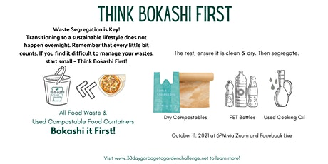THINK Bokashi First and Where to Bring your Bokahshied Food Waste tickets