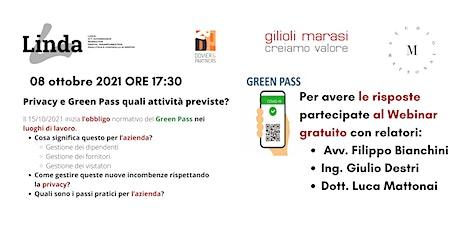 GREEN PASS NEI LUOGHI DI LAVORO E PRIVACY - QUALI ATTIVITA' PREVISTE biglietti