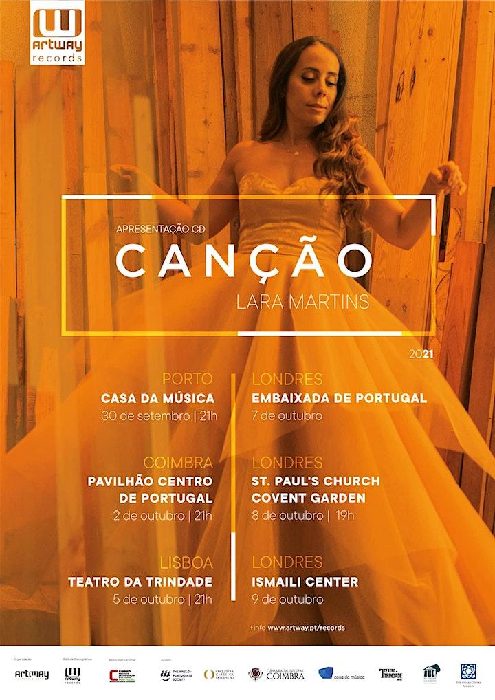 """imagem Concerto de apresentação do álbum """"Canção """"- Lara Martins"""