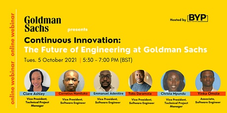 Continuous Innovation: The Future of Engineering at Goldman Sachs tickets