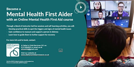 Mental Health First Aid England Adult 2 Day (Course: ONLINE) tickets