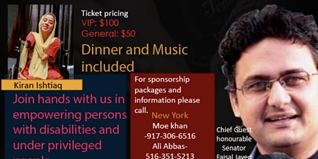 Fundraising dinner and concert for disabilities & limbs replacement. tickets