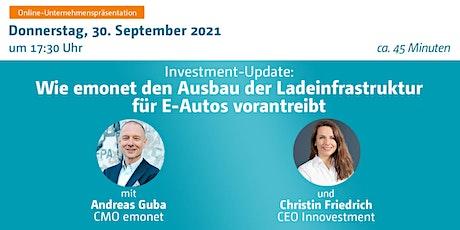 Investment-Update: Wie emonet den Ausbau der Ladeinfrastruktur für E-Autos Tickets