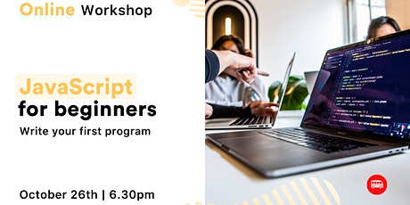 [Free, online Workshop] JavaScript for Beginners tickets