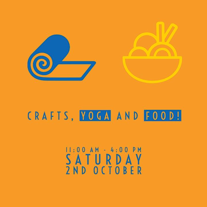 Crafts, Yoga & Food image