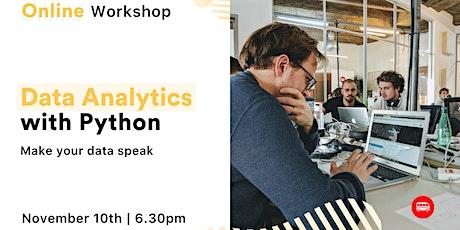 [Free, online workshop] Data Analytics with Python tickets