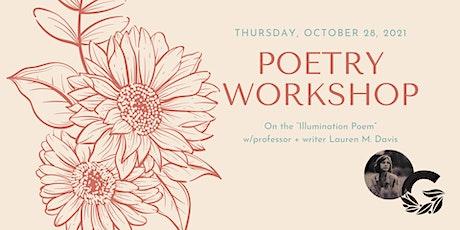 Illumination Poetry Workshop tickets