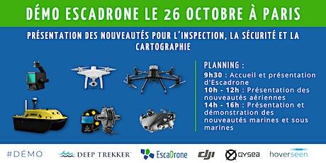 Rencontre drone à Paris - Outils techniques, enjeux et utilisations billets