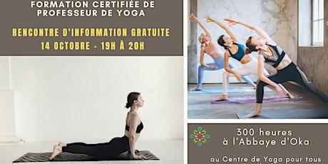 Rencontre en ligne gratuite : FORMATION professeur de Yoga billets