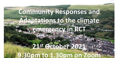 Community Responses and Adaptations to the climate change emergency in RCT tickets