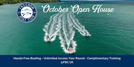 Freedom Boat Club UK - October Open House tickets