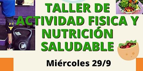 Copia de Taller de Actividad Fisica y Nutrición Saludable entradas