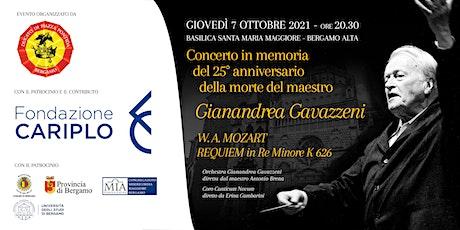 Concerto W. A. MOZART REQUIEM in Re Minore K 626 biglietti