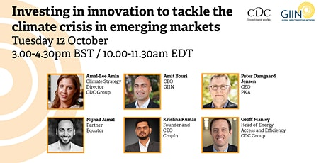 Investing in innovation to tackle the climate crisis in emerging markets tickets