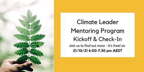 Climate Leader Mentoring Program Kickoff & Check-In tickets