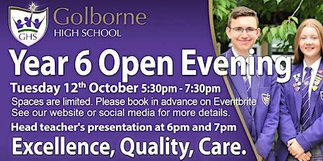 Golborne High School Year 6 Open Evening tickets