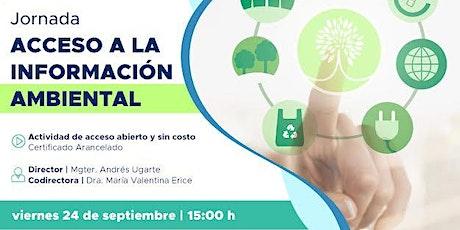 Jornada de Acceso a la Información Ambiental entradas