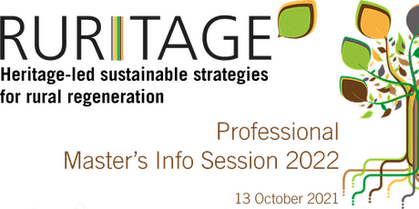 RURITAGE Professional Master's programme information session tickets