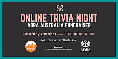 Online Trivia Night (ADRA Fundraiser) tickets