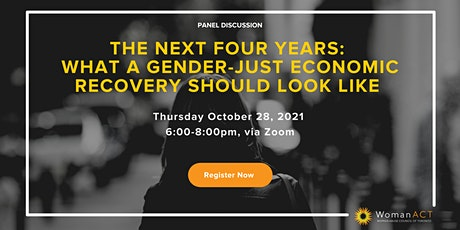 The Next Four Years:  What a Gender-Just Economic Recovery Should Look Like tickets