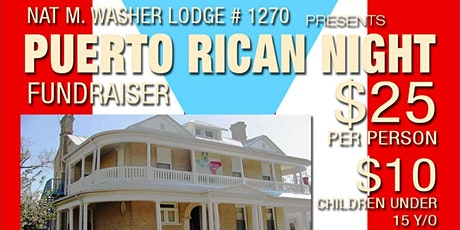 Nat M. Washer Lodge #1270 Presents Puerto Rican Night! tickets