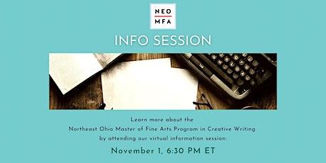 Virtual Info Session: NEOMFA Program in Creative Writing tickets
