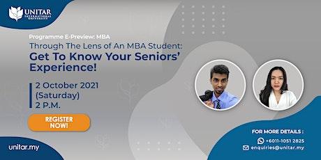 UNITAR: MBA Programme E-Preview Tickets