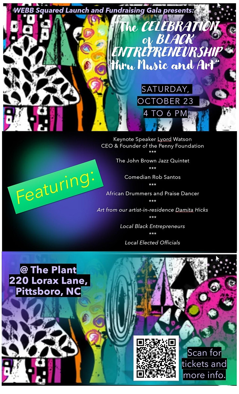 "WEBB Squared ""The Celebration of Black Entrepreneurship thru Music and Art"" image"