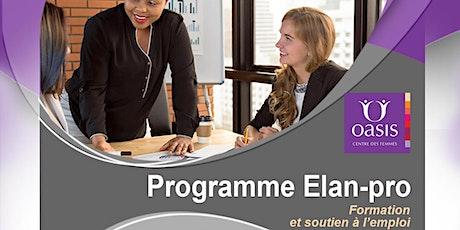 Programme de formation et de soutien à l'emploi billets