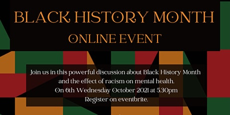 Black History Month Online Event tickets