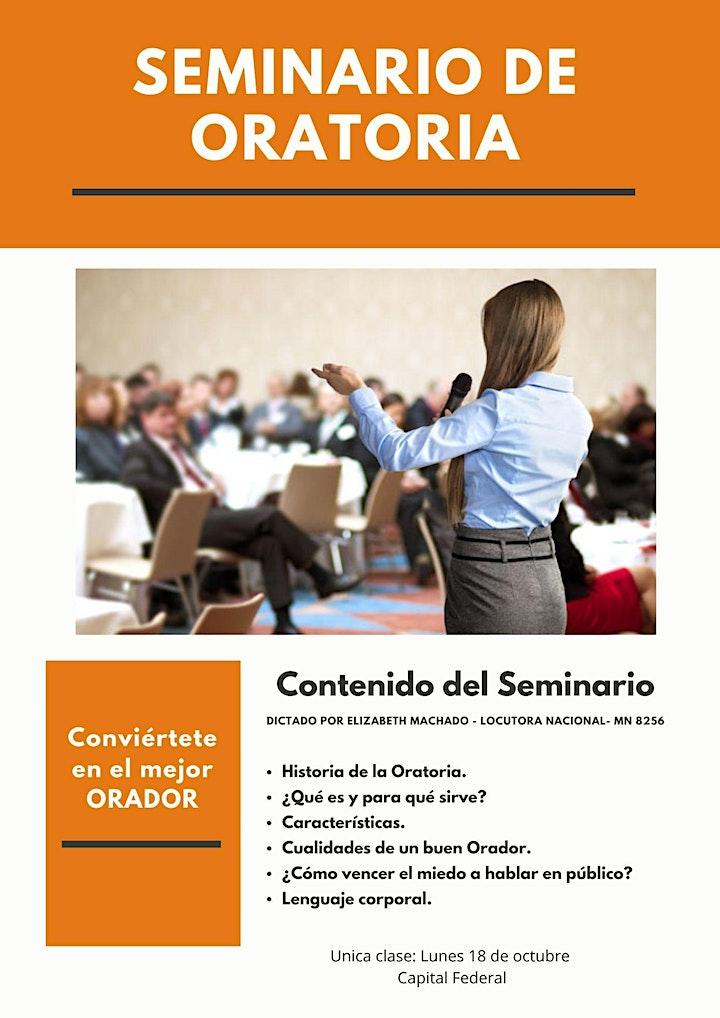 Imagen de Seminario de Oratoria