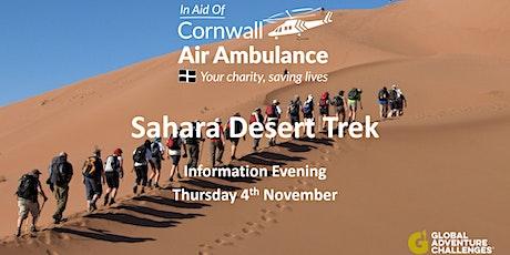 Sahara Desert Trek Information Evening tickets