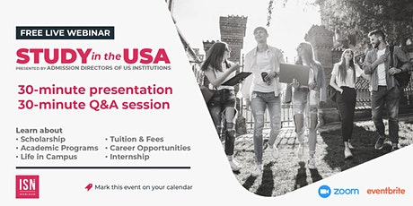 Study in the USA Webinar for Latin & Central America tickets