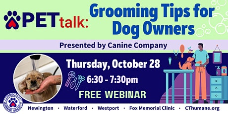 PETtalk: Grooming Tips for Dog Owners tickets